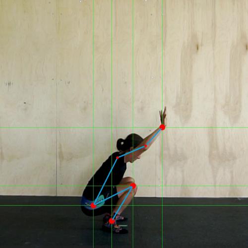Woman getting a MyVeloFit virtual mobility assessment